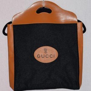 Vintage Gucci Rare Felt Shopper/Tote